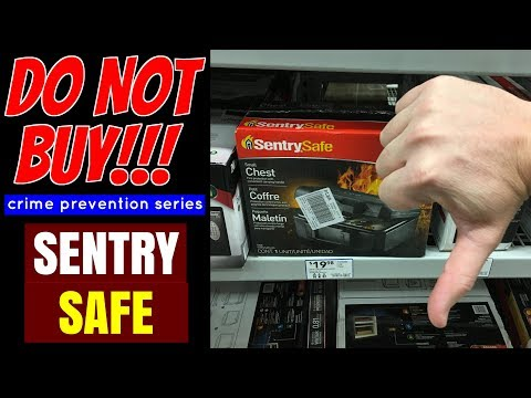 DO NOT BUY!!! Sentry Safe 1200 (Crime Prevention Series)