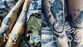 MY TATTOOS 2017 // Knee Tattoos, Rick&Morty And Harry Potter Tattoo