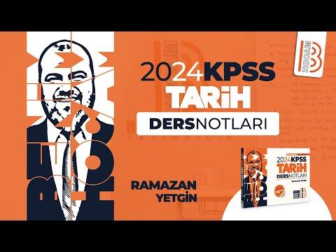 19) KPSS Tarih - Osmanlı Devleti Kültür ve Medeniyeti 1 - Ramazan YETGİN - 2022