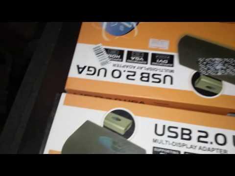 Mostrando o Multi-display adapter: USB 2.0 VGA