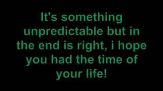 Green day - Time of your life with lyrics
