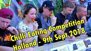 Chilli Eating Competition Dutch Chili Fest, Sept 9th 2018