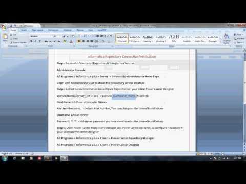 Informatica Administration Training Tutorial 4: Repository ... - YouTube