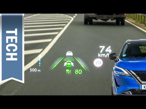 Head-up-Display im neuen Nissan Qashqai im Test (HUD)
