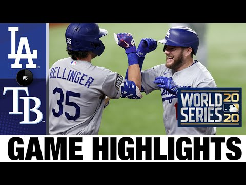 , title : 'Joc Pederson, Max Muncy homer in World Series Game 5 win | Dodgers-Rays Game 5 Highlights 10/25/20'