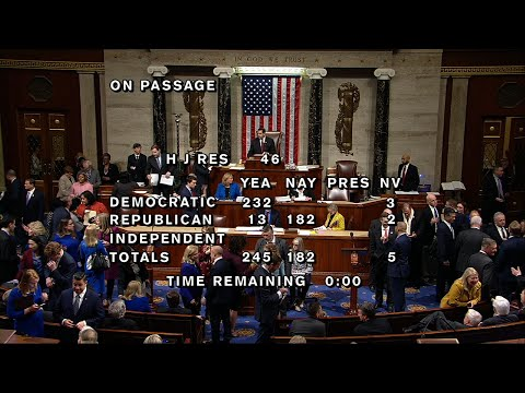 The House has voted to block President Donald Trump's emergency declaration, a measure intended get him billions of extra dollars to build his border wall. (Feb. 26)
