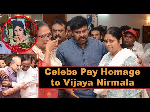 Celebs Pay Homage to Actress Vijaya Nirmala