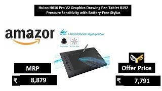 huion h610 pro graphic drawing tablet 8192 - TH-Clip