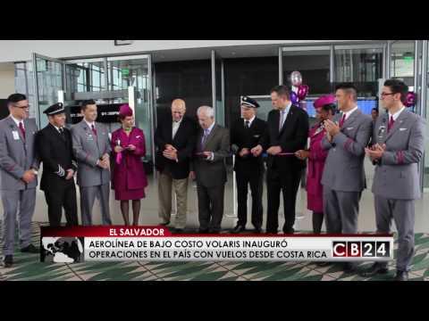 Aerolínea Volaris inauguró operaciones en El Salvador con vuelo desde Costa Rica
