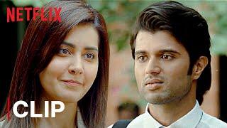 Vijay Deverakonda & Rashi Khanna Romantic Scene | World Famous Lover | Netflix India