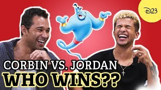 Jordan Fisher vs. Corbin Bleu: Who's the Bigger Fan? | D23's Ultimate Disney Fan Quiz