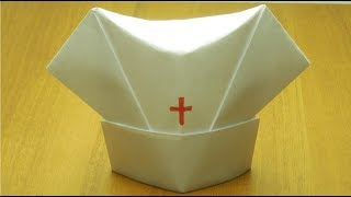 Как сделать медицинскую шапку из бумаги оригами