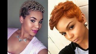 Short Pixie Hairstyles For Black Women 2019