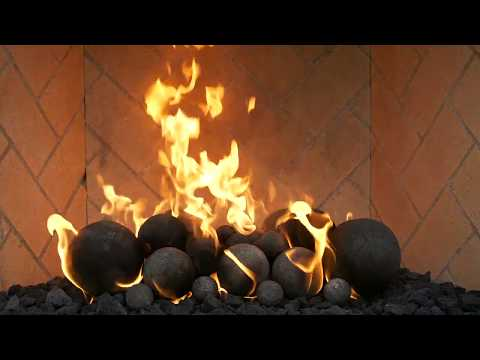 Grand Canyon Gas Logs Black Cannon Fireballs