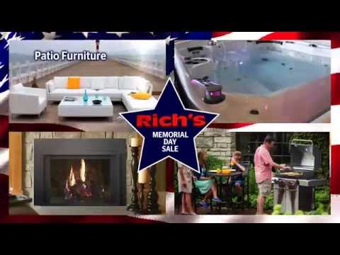 memorial day sale patio furniture hot tubs fireplaces