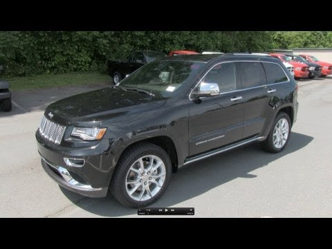 2014 Jeep Grand Cherokee Summit V8 Start Up, Exhaust, and In Depth Review