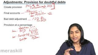 Treatment of Provision for Bad Debt Profit & Loss Account   Final Accounts   CA CPT   CS & CMA
