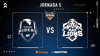 Movistar Riders VS MAD Lions E.C. | Jornada 5 | Temporada 2018-2019