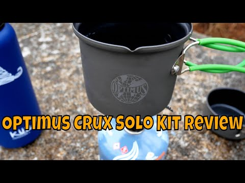 Optimus Crux Lite Solo Cook Kit Burner/Stove Review 4k