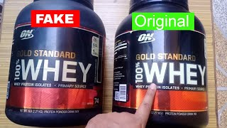 How To Check Whey Protein Original