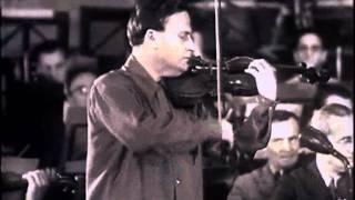 Menuhin and Celibidache rehearsal Brahms Violin Concerto - 1946