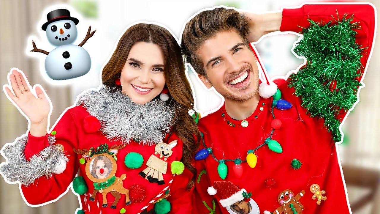 UGLY SWEATER CHALLENGE ft Joey Graceffa! thumbnail