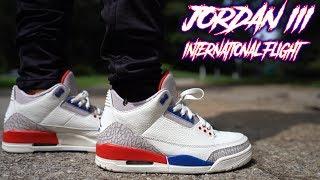 sale retailer ff59b 0a74e Air Jordan 3 International Flight Charity Game Review And On Feet !