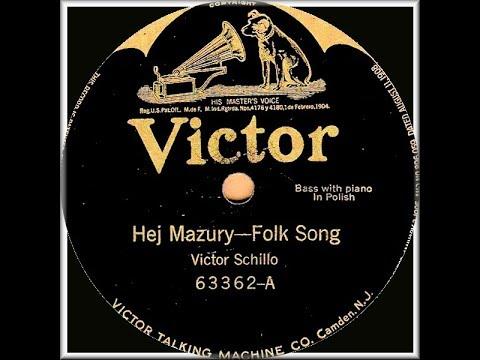 Polish 78rpm recordings, 1911. VICTOR 63362. Hej Mazury / Polonez Kosciuszki