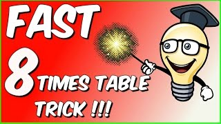 Fast 8 times table trick!!!