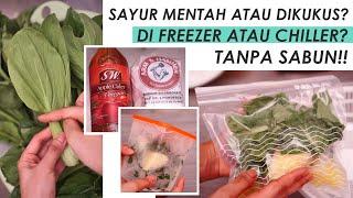 Cara Cuci + Prep Sayur Untuk Green Smoothie Supaya Tahan Lama / Racun Kitchen Tools!!