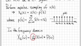 Sampling Signals (3/13) - Fourier Transform of an Impulse Samp...