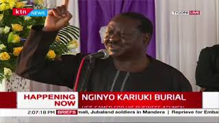 Raila: Don't invest in heaven, we want you to invest here on earth for development