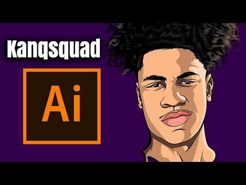 Kanqsquad / Speedart Tutorial ( ADOBE ILLUSTRATOR )