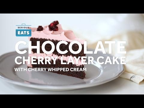 Pretty in Pink: Chocolate Cherry Layer Cake
