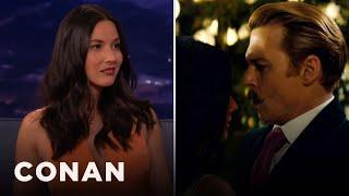 Olivia Munn: Johnny Depp Kept Grabbing My Boob   CONAN on TBS