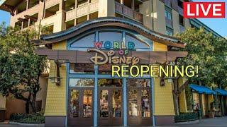 🔴 Disneyland Resort Live: Downtown Disney Grand Reopening 7/9/20