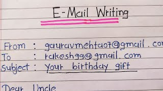 Write email on your birthday gift || english email writing || birthday gift ||