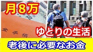 【老後】65歳以上は月8万円で安心!ゆとりある生活を送るためには!?知ってよかった雑学【ちょこっとTV】