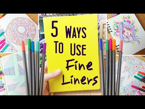 5 Ways to Use Fineliners in Your Sketchbook - Doodle/Drawing Ideas to Fill a Sketchbook