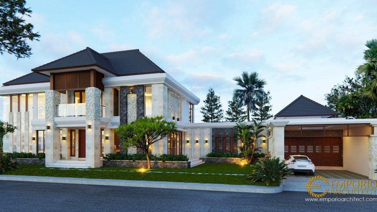 Video 3D Desain Rumah Hook Villa Bali 2 Lantai Ibu Suli di Palangka Raya