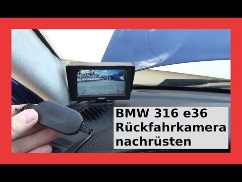 Warum Müll? Rückfahrkamera nachrüsten mit Funkübertragung zum Bildschirm. Von CARCHET BMW 316i e36