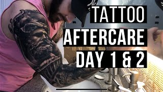 How To Treat A New Tattoo: Healing Process/Aftercare DAY 1 & 2