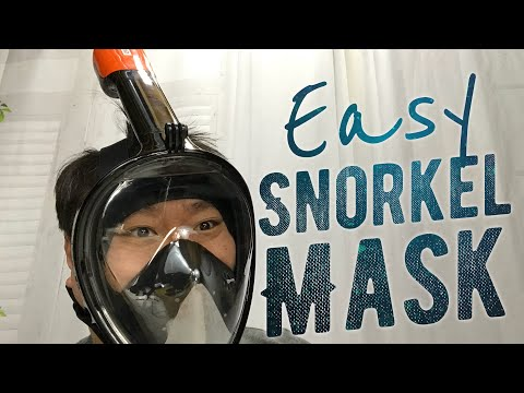 180° Full Face Design Tubeless Easy Snorkel Mask Review