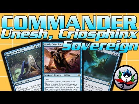 "MTG – Unesh, Criosphinx Sovereign ""Budget"" Sphinx Tribal EDH/Commander Deck Tech!"