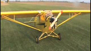 3/4 Scale,75%pipercub worlds largest full wing rc flying model today.