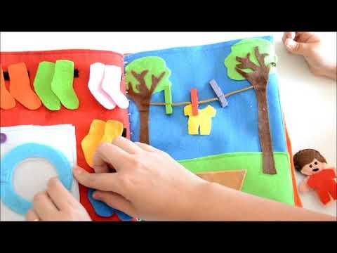 quiet book o libro in stoffa gioco per bambini 0 / 4 anni