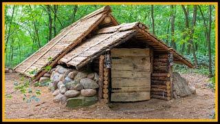 Das Grubenhaus - Kompletter Bau in einem Video - Bushcraft Pithouse Shelter - Whole Building