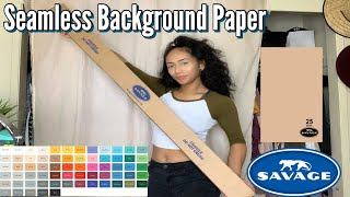 SAVAGE Seamless Back Ground Paper | Unboxing | pt 1