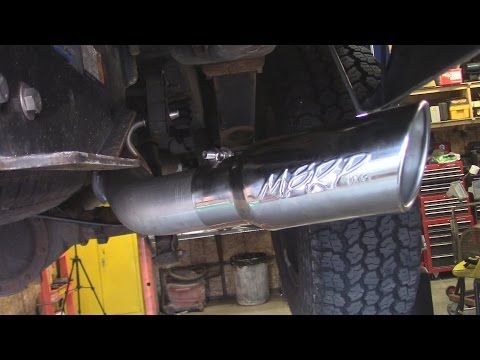 MBRP Cat Back Exhaust Install Chevy Truck 5.3 Liter