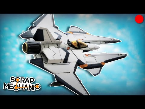 Building a Futuristic Combat Jet! - Scrap Mechanic Live Stream